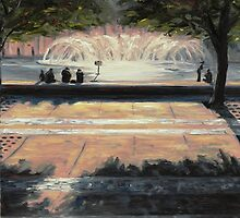 Back Bay Fountain by Karen Strangfeld