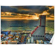 Tel Aviv LEGO Poster