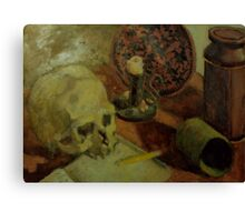 Still Life With Skull Canvas Print