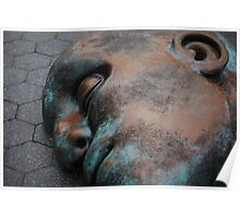 Face Sculpture in Penny Park Poster