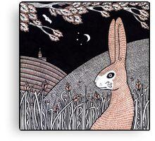 Midnight Buck Hare Canvas Print