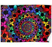 Colorful Flower Petals  Poster