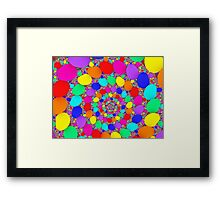 Spiraling Colorful Jelly Beans  Framed Print