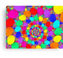 Spiraling Colorful Jelly Beans  Canvas Print