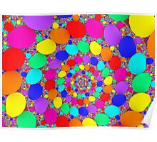 Spiraling Colorful Jelly Beans  Poster