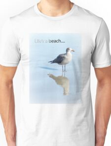 Gull and Reflections, Blue Tint T-Shirt