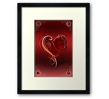 The Chromatic Deck - Ace of Hearts Framed Print