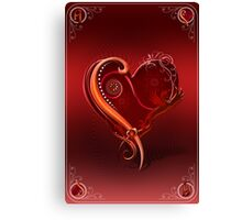 The Chromatic Deck - Ace of Hearts Canvas Print