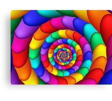 Spiraling Colorful Eggs  Canvas Print