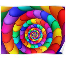 Spiraling Colorful Eggs  Poster