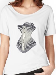 Corset Lace Women's Relaxed Fit T-Shirt