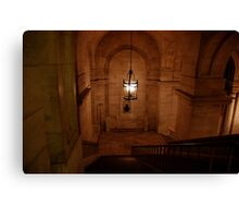 Staircase at the New York city library Canvas Print