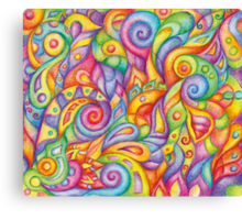 Rainbow Maggots Canvas Print