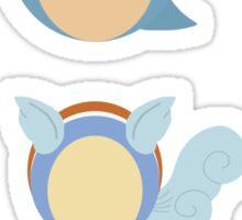 Squirtle, Wartortle, Blastoise Pokedots Sticker