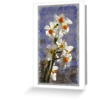 Daffodil Tree Greeting Card