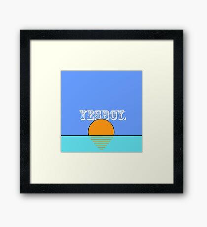 YESBOY SUNSET Framed Print