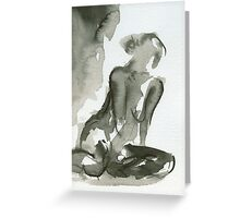 Impressions - Figure Painting Series Greeting Card