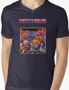 Ghosts 'n Goblins Mens V-Neck T-Shirt