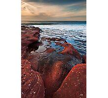Red Rock - Red Bluff Beach - Kalbarri Photographic Print