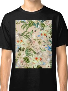 Retro Tropical Flowers Classic T-Shirt