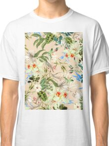 Retro Tropical Flowers Classic T-Shirt