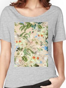 Retro Tropical Flowers Women's Relaxed Fit T-Shirt