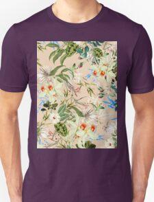 Retro Tropical Flowers T-Shirt