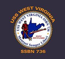 USS West Virginia (SSBN-736) Crest for Dark Colors Unisex T-Shirt