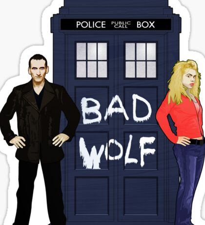 The Ninth Doctor and Rose Sticker