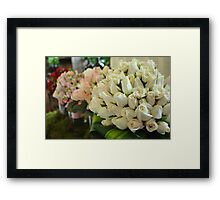 White Roses by stellaclay Framed Print