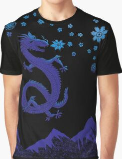 Northern Lights Dragon Graphic T-Shirt