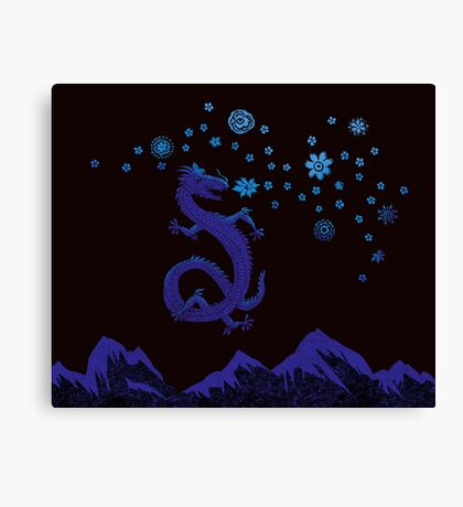 Northern Lights Dragon Canvas Print