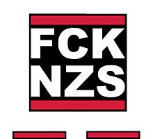 FCK NZS SICKERBOMB (6X Stickers) by derP