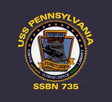 USS Pennsylvania (SSBN-735) Crest for Dark Colors Unisex T-Shirt