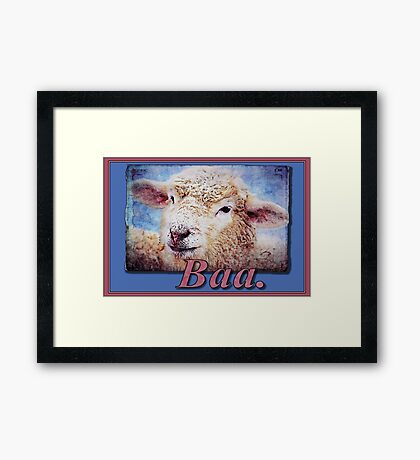 """""""Baa."""" (with background) Framed Print"""
