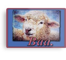 """Baa."" (with background) Metal Print"