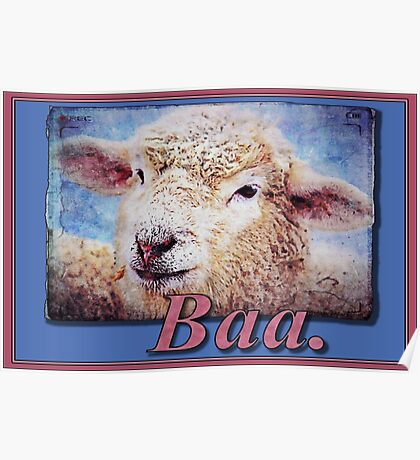 """""""Baa."""" (with background) Poster"""