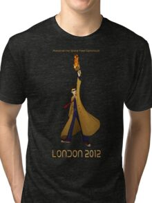 Preserve the Space-Time Continuum: The Doctor in London 2012 Tri-blend T-Shirt