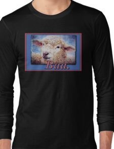 """""""Baa."""" (with background) Long Sleeve T-Shirt"""