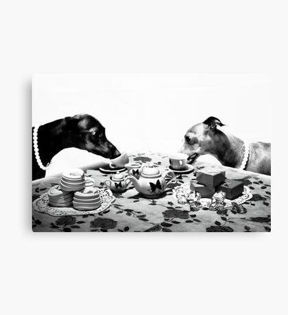 Doggy Tea Party Canvas Print