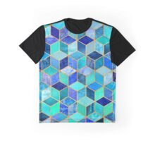 Blue Cubes Graphic T-Shirt