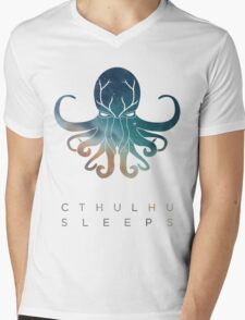 Deadmau5 Cthulhu Sleeps Mens V-Neck T-Shirt