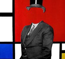 portrait of Mondrian by Loui  Jover