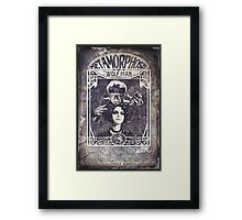 Metamorphosis by The Wolf Man: A Full Service Hair Salon (Old Metal Sign) Framed Print