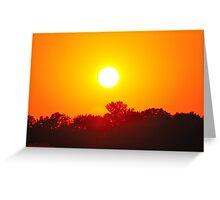 As the Sun Sets 1 Greeting Card