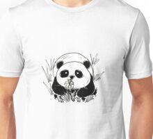 Panda in tall grass Unisex T-Shirt
