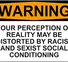 WARNING: YOUR PERCEPTION OF REALITY MAY BE DISTORTED BY RACIST AND SEXIST SOCIAL CONDITIONING by Rob Price