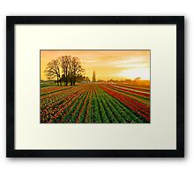 Dusk At The Wooden Shoe Framed Print