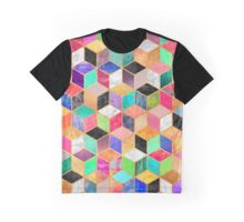 Colorful Cubes Graphic T-Shirt