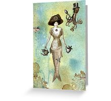A Mermaid's Tea Greeting Card